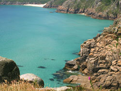 View of Porthcurno Beach